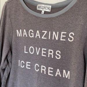Magazines Lovers Ice Cream Wildfox sweatshirt